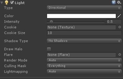 Unity3D教程之Light光源